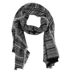 Sjaal met motif met etnisch en jacquard