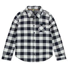 Junior - Geruit hemd met lange mouwen