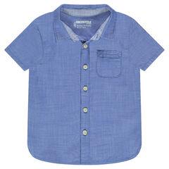 Hemd met korte mouwen met opgestikte zak