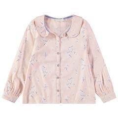 """Hemd met lange mouwen en bloemenprint """"all-over"""""""