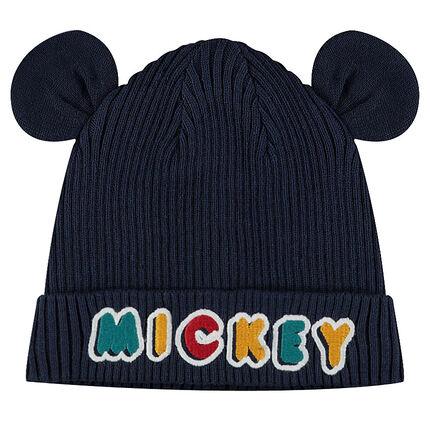 Tricotmuts met ribrand van ©Disney's Mickey met opgenaaide oren