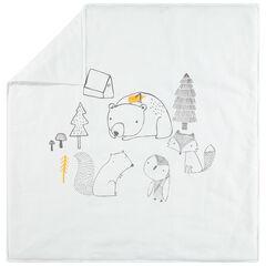 Couverture en jersey avec animaux de la fôret - 80x80cm