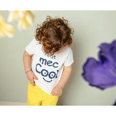T-shirt manches courtes en coton bio à message printé