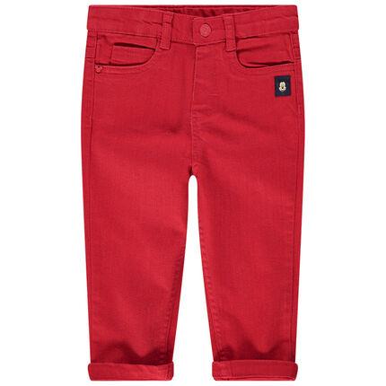 Rode broek met inzetstukken van Mickey Disney
