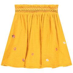 Jupe jaune à fleurs pour enfant fille , Orchestra