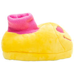 Chaussons peluche brodés Smiley