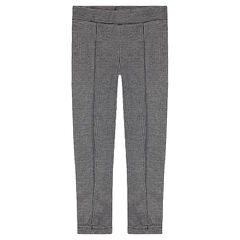 "Junior - Legging in milano met pied-de-poule motief ""all-over"""