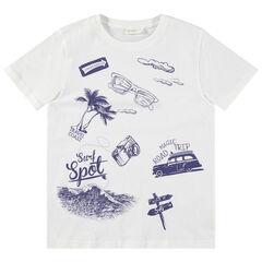 Junior - T-shirt met korte mouwen en print in vakantiestijl