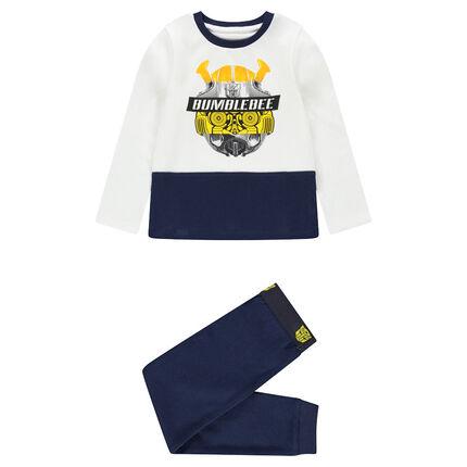 Pyjama van jerseystof in twee kleuren met ©Transformers-print