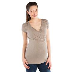 T-shirt korte mouwen geschikt voor borstvoeding