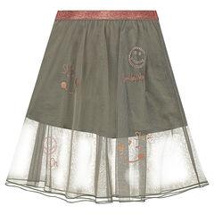 Lange rok van tule met strassteentjes en koperkleurige ©Smileyprints