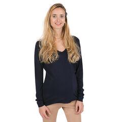 Zwangerschapstrui uit fijne tricot met V-hals