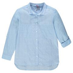 Junior - Chemise en coton fantaisie effet pailleté
