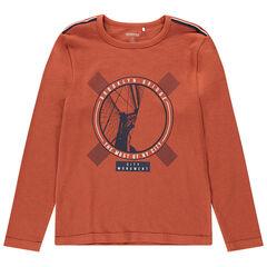 Junior - T-shirt met lange mouwen van jerseystof en fantasieprint
