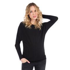 Zwangerschapstrui van effen tricot met decoratieve knopen