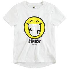 Junior - Tee-shirt manches courtes en jersey avec print ©Smiley