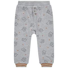 Pantalon de jogging en molleton doublé jersey à renards imprimés all-over