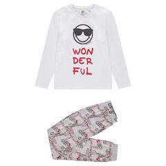 Junior - Pyjama van jerseystof met ©Smileyprint