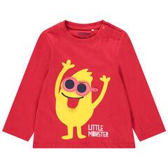 T-shirt manches longues en jersey avec motifs fantaisie imprimés