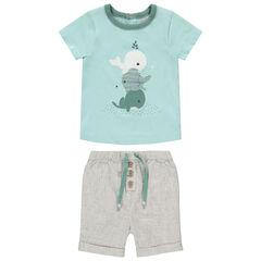 Ensemble avec t-shirt motif baleines