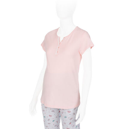 Tee-shirt manches courtes homewear d'allaitement