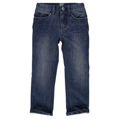 Jeans droit et surpiqûres
