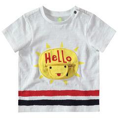 T-shirt met korte mouwen van jerseystof met zon en zak met ritssluiting