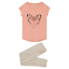 Junior - Pyjama en jersey avec papillon printé