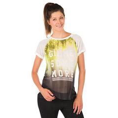 T-shirt korte mouwen voor tijdens de zwangerschap in voile