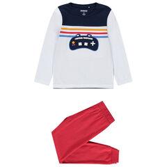 Pyjama en coton bio print manette console de jeu