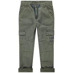 Pantalon surteint en toile à poches