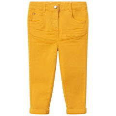 Pantalon en toile uni coupe slim