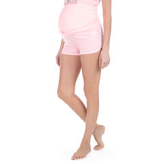 Short homewear de grossesse en jersey avec bandeau haut