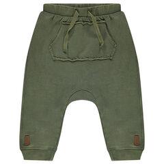 Pantalon de jogging fourche basse en molleton léger