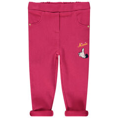 Legging rose broderie Minnie Disney