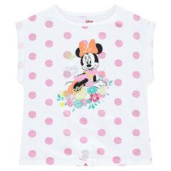 """T-shirt met rechte vorm en korte mouwen van ©Disney met print met Minnie en met stippen """"all-over"""""""