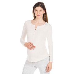 Tee-shirt manches longues homewear de grossesse