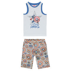 Jersey pyjama met Marvel Captain America print