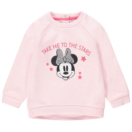 Sweat en molleton étoilé print Minnie Disney