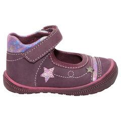 Babies en cuir avec pailletes et patch étoile