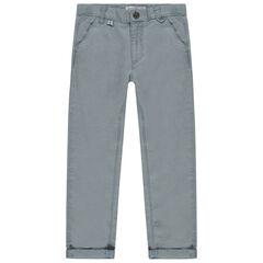 Pantalon chino à poches italiennes