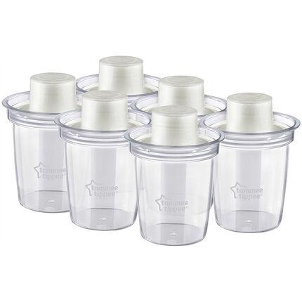 Lot de 6 boîtes doseuses pour le lait