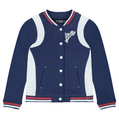 Junior - Baseballvest van molton met badges