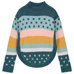 Pull en tricot à motifs jacquard