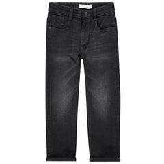 Jeans met used en gekreukt effect en zakken