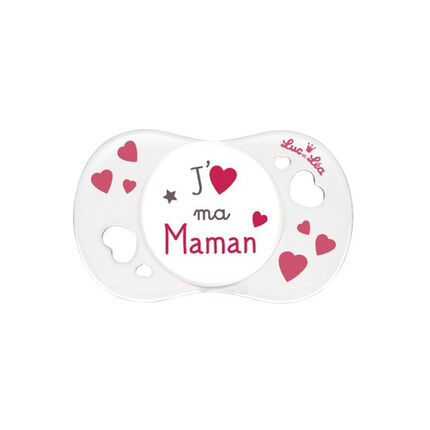 Sucette symétrique J'aime ma Maman 0-6 mois