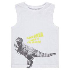 Débardeur en maille avec dinosaure printé