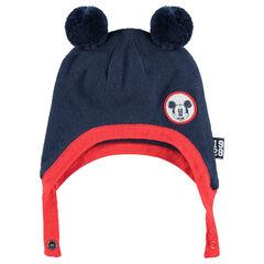 Bonnet péruvien en tricot avec pompons et badge ©Disney Mickey