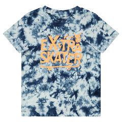 T-shirt met korte mouwen uit jerseystof met shibori-effect