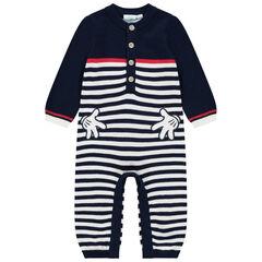 Combinaison en tricot rayée pour bébé garçon motifs Mickey Disney , Orchestra